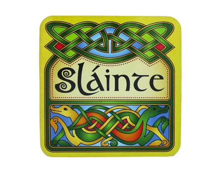 Irish Slainte Coaster