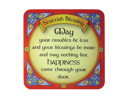 Scottish Blessing Coaster