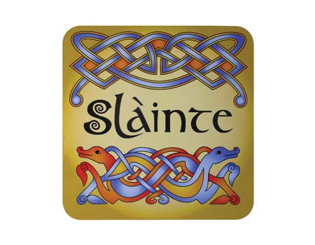 Scottish Slainte Coaster