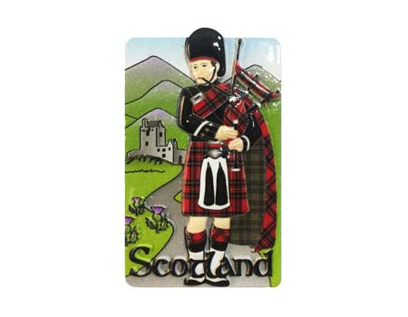 Scottish Piper Resin Magnet