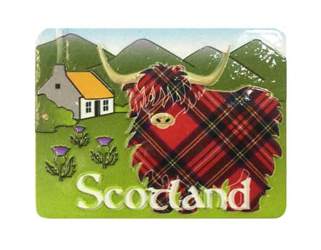 Highland Cow Scene Resin Magnet
