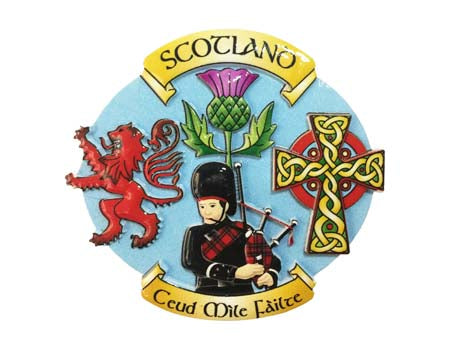 Scotland Collage Resin Magnet