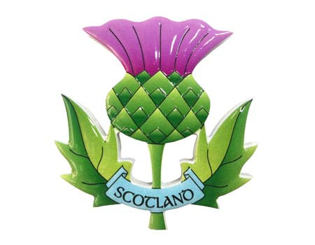 Scottish Thistle Resin Magnet