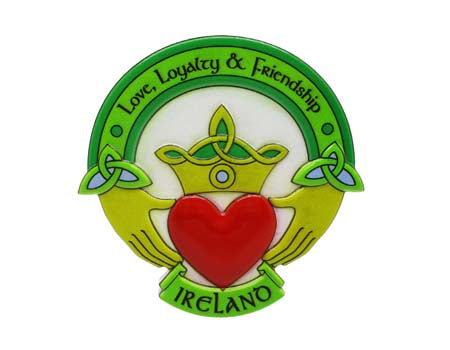 Claddagh Ring Fridge Magnet Resin
