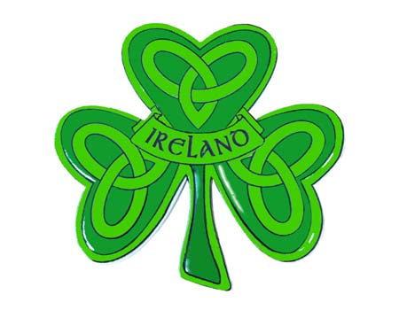 Irish Shamrock Fridge Magnet