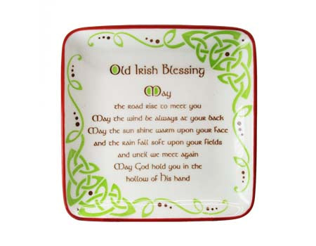 Old Irish Blessing 12cm Square Dish