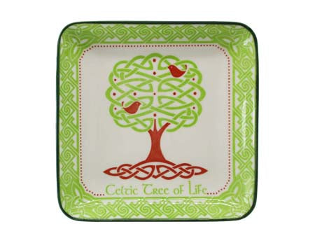 Celtic Tree of Life 12cm Square Dish