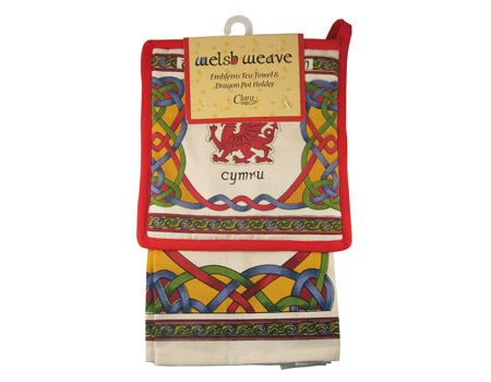 Welsh Tea Towel & Dragon Pot Holder