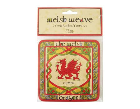 Set of 2 Welsh Dragon Coasters