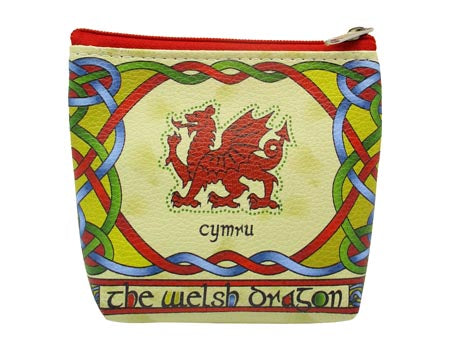 Welsh Dragon Zip Purse Welsh Weave