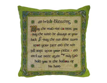 Irish Blessing Cushion Cover Small