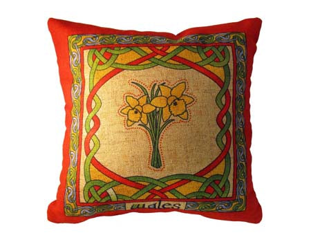 Welsh Daffodil Cushion Cover