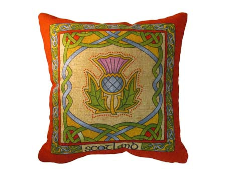 Scottish Thistle Cushion Cover