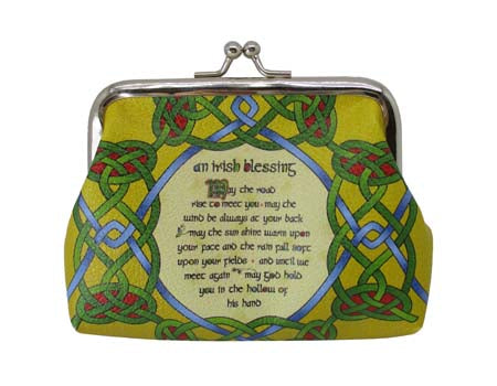 Irish Blessing Clip Purse