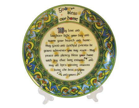 "God Bless Our Home 8"" Plate"