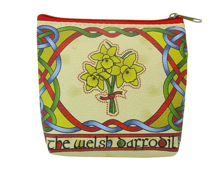 Welsh Daffodil Zip Purse Welsh Weave
