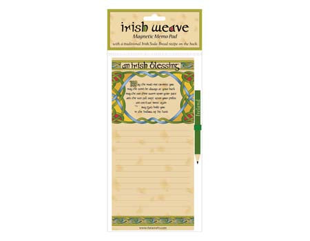 Irish Weave Blessing Fridge Memo Pad