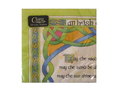 Irish Blessing Paper Napkin