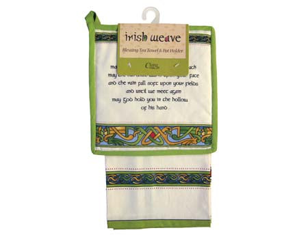 Irish Blessing Tea Towel & Pot Holder
