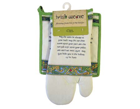 Irish Blessing Oven Mitt & Pot Holder