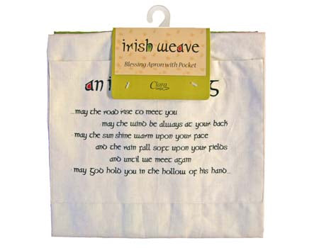 Apron with Irish Blessing on Pocket