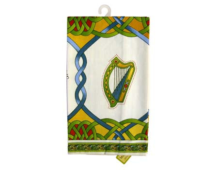 Single Tea Towel Emblems of Ireland