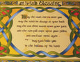 Irish Weave Blessing Tea Tray