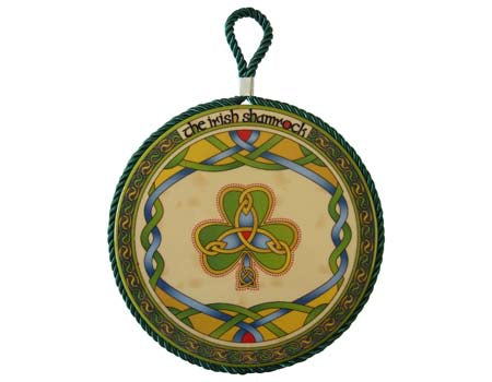 Irish Shamrock Rope Plaque