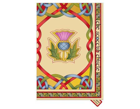 Scottish Emblems Single Tea Towel