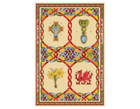 Welsh Emblems Single Tea Towel