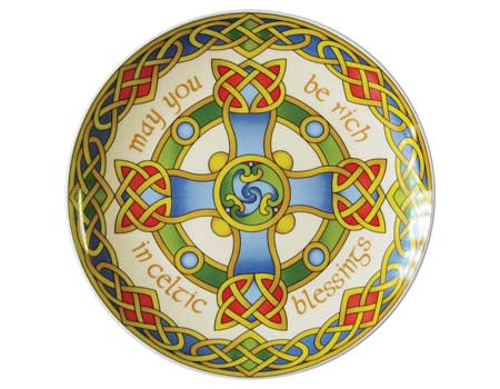 "Celtic Cross 8"" Plate"
