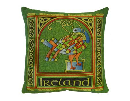 Celtic Peacock Cushion Cover Large