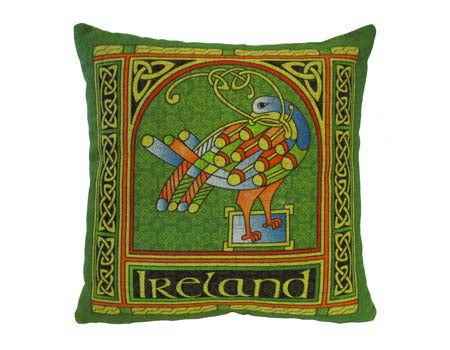 Celtic Peacock Cushion Cover Small