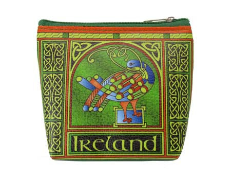 Celtic Peacock Zip Purse