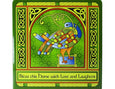 Celtic Peacock Square Pot Stand/Wall Plaque