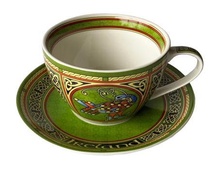 Celtic Peacock Cup & Saucer