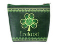Shamrock Spiral Zip Purse