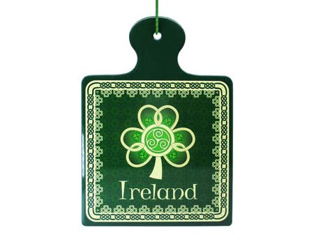 Shamrock Spiral Square Pot Stand/Wall Plaque