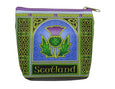Scottish Thistle Zip Purse Celtic Window
