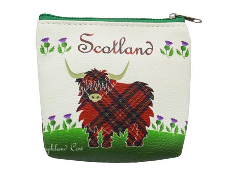 Highland Cow Zip Purse