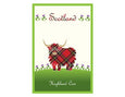 Highland Cow Tea Towel & Pot Holder