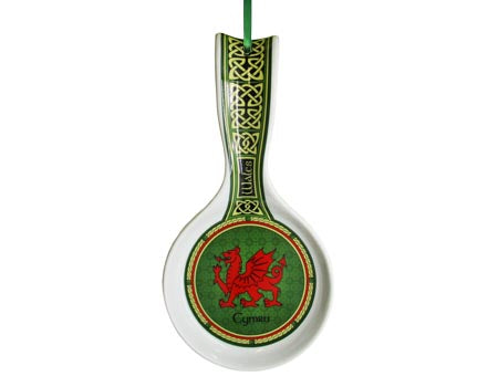 Welsh Dragon Spoon Rest Celtic Window