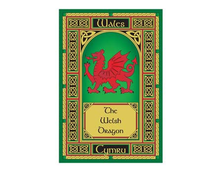 Welsh Dragon Window Tea Towel
