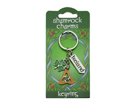 Trinity Knot Charms Keyring