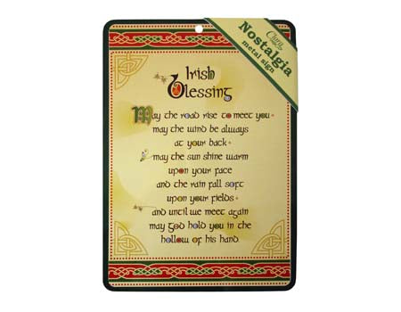 Irish Blessing Nostalgia Metal Sign