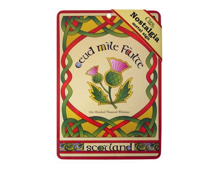 Scottish Thistle Nostalgia Metal Sign