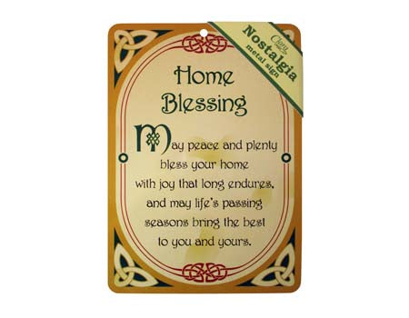 Home Blessing Nostalgia Metal Sign