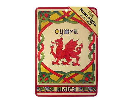 Welsh Dragon Nostalgia Metal Sign