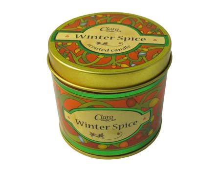 Winter Spice scented travel candle
