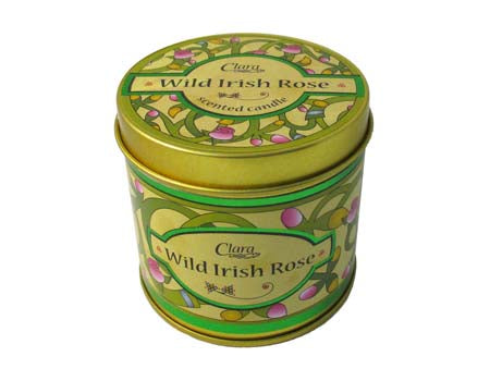 Wild Irish Rose scented travel candle
